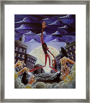Framed Print featuring the painting 'thriller V3' by Tu-Kwon Thomas
