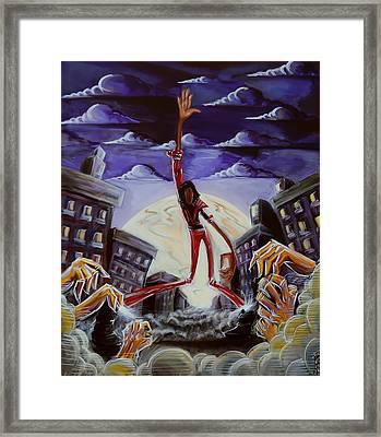 'thriller V3' Framed Print by Tu-Kwon Thomas