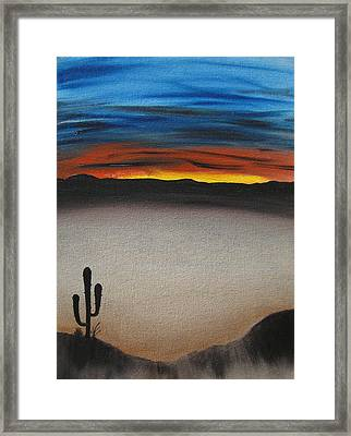 Thriving In The Desert Framed Print