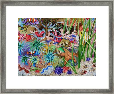 Thriving Ocean - Octopus Framed Print by Katherine Young-Beck