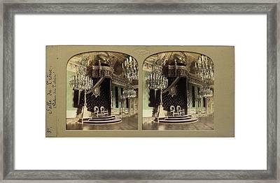Throne Hall Palais Des Tuileries France, Florent Grau Framed Print