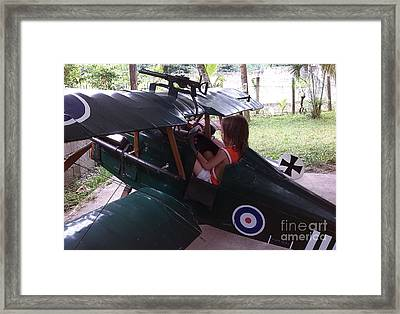 Throttle Aand Choke Framed Print by Richard John Holden RA