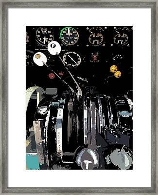 Throttles Framed Print