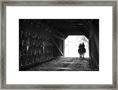 Framed Print featuring the photograph Through A Covered Bridge by Phil Abrams