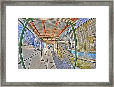 Through A Fish Eye Framed Print by Mark Ayzenberg