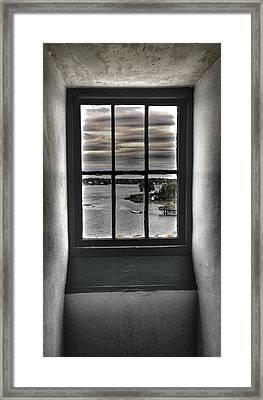 Through A Glass Framed Print
