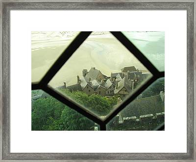 Through A Window To The Past Framed Print by Mary Ellen Mueller Legault