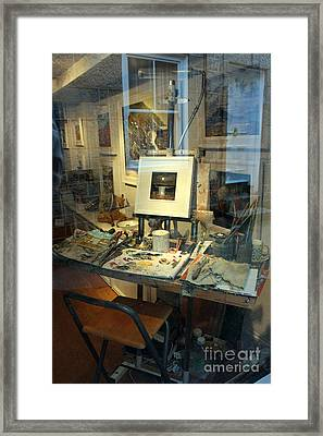 Through An Artists Window Framed Print by Terri Waters