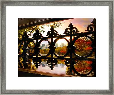 Through Bank Rock Bridge Framed Print