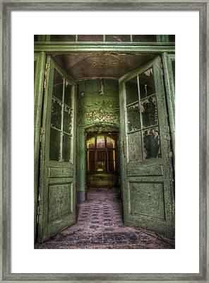 Through Grand Doors Framed Print