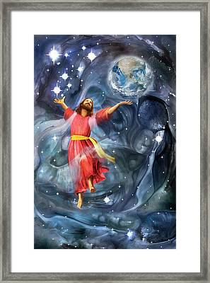 Through Him Framed Print