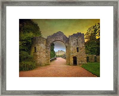 Framed Print featuring the photograph Through The Arch by Roy  McPeak