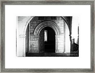 Through The Arches Framed Print by John Rizzuto