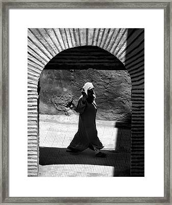 Through The Archway.. Framed Print