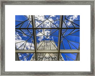Through The Atrium Framed Print by Anna-Lee Cappaert
