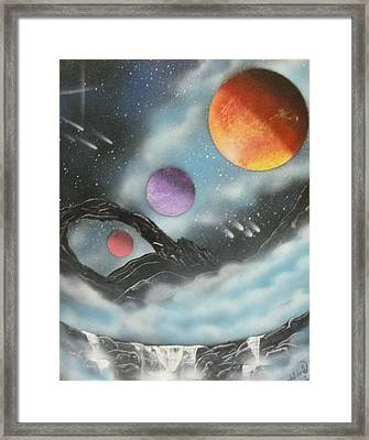 Through The Clouds Framed Print by Ashley Mould