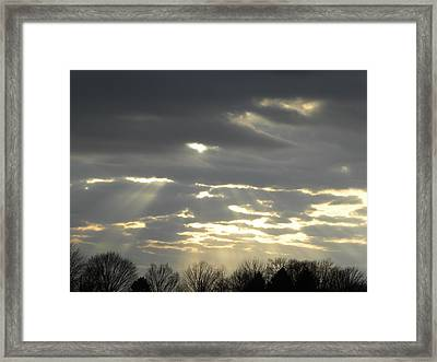 Through The Clouds Framed Print by Cim Paddock