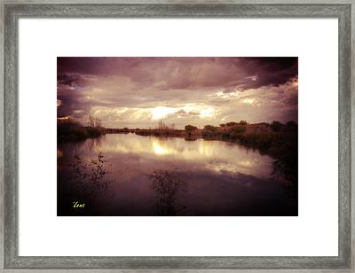 Through The Clouds Framed Print by George Lenz