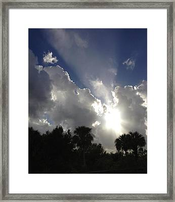 Through The Clouds Framed Print by K Simmons Luna