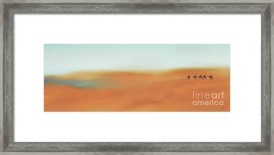Through The Desert Framed Print by Hannes Cmarits