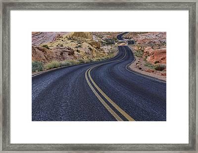 Through The Desert Framed Print by Rick Berk