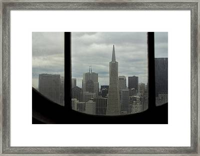 Through The Dirty Window Framed Print