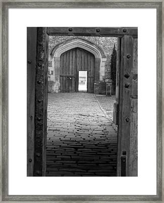 Framed Print featuring the photograph Through The Door by Meaghan Troup