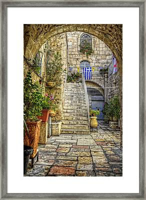 Through The Doorway Framed Print