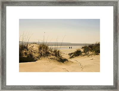 Through The Dunes Framed Print by Barbara Northrup