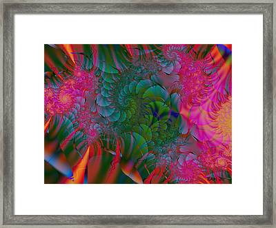 Framed Print featuring the digital art Through The Electric Garden by Elizabeth McTaggart