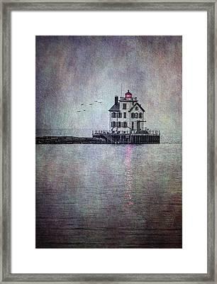 Through The Evening Mist Framed Print