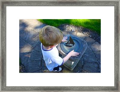 Through The Eyes Of A Child Framed Print