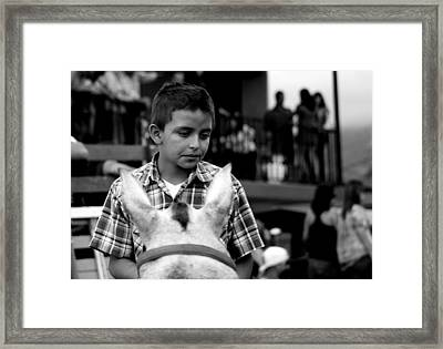 Through The Eyes Of A Child Framed Print by Ramon Fernandez
