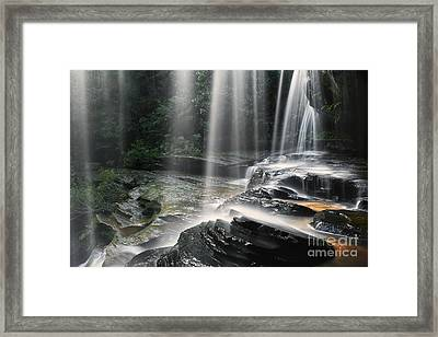 Through The Falling - Colour Framed Print by Michael Howard