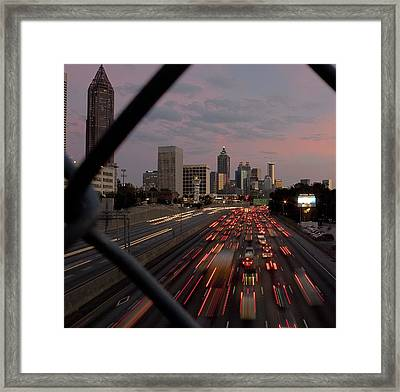 Through The Fence Framed Print by Stephen Gray