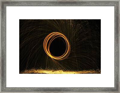 Through The Fire And Flames Framed Print