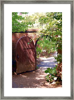 Through The Garden Gate Framed Print