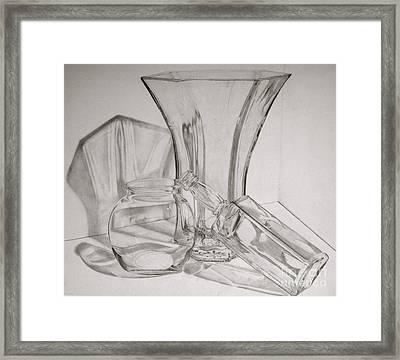 Through The Glass Framed Print by Jen Santa