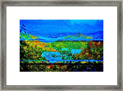 Through The Glass Framed Print