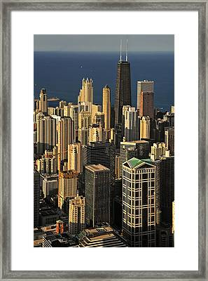 Through The Haze Chicago Shines Framed Print