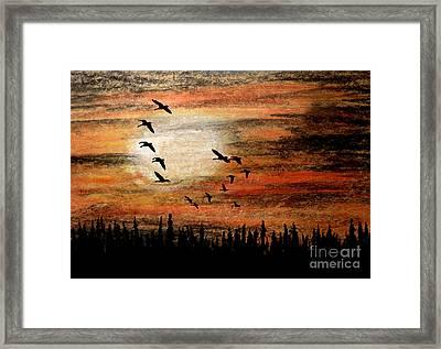 Through The Haze Framed Print by R Kyllo