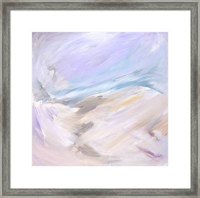 Through The Ice  Framed Print by Tanya Byrd