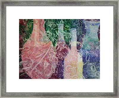 Through The Lace Framed Print