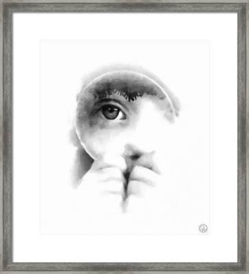 Through The Looking-glass Framed Print by Gun Legler