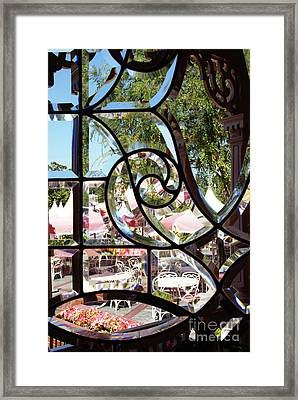 Through The Looking Glass Framed Print by Linda Shafer