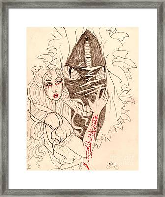 Through The Looking Glass Sketch Framed Print by Coriander  Shea