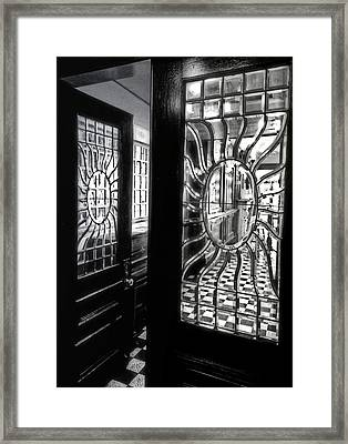 Through The Lookinglass And Onto The Checkerboard Framed Print