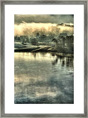 Through The Missouri Mists Framed Print by William Fields