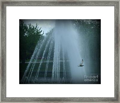 Through The Mist Framed Print by Christy Beal