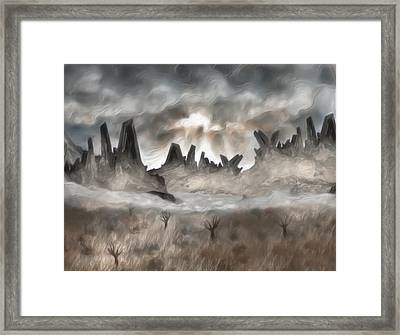 Through The Mist Framed Print by Jack Zulli